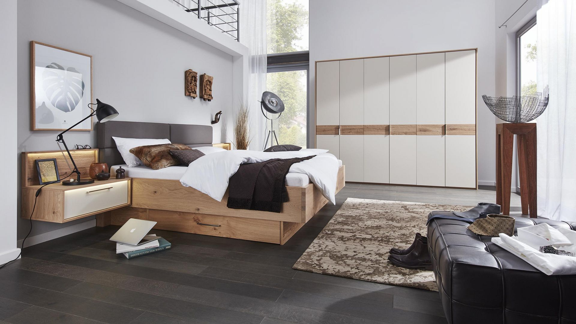 interliving schlafzimmer serie 1002 bett modern g nstig m bel schaumann. Black Bedroom Furniture Sets. Home Design Ideas