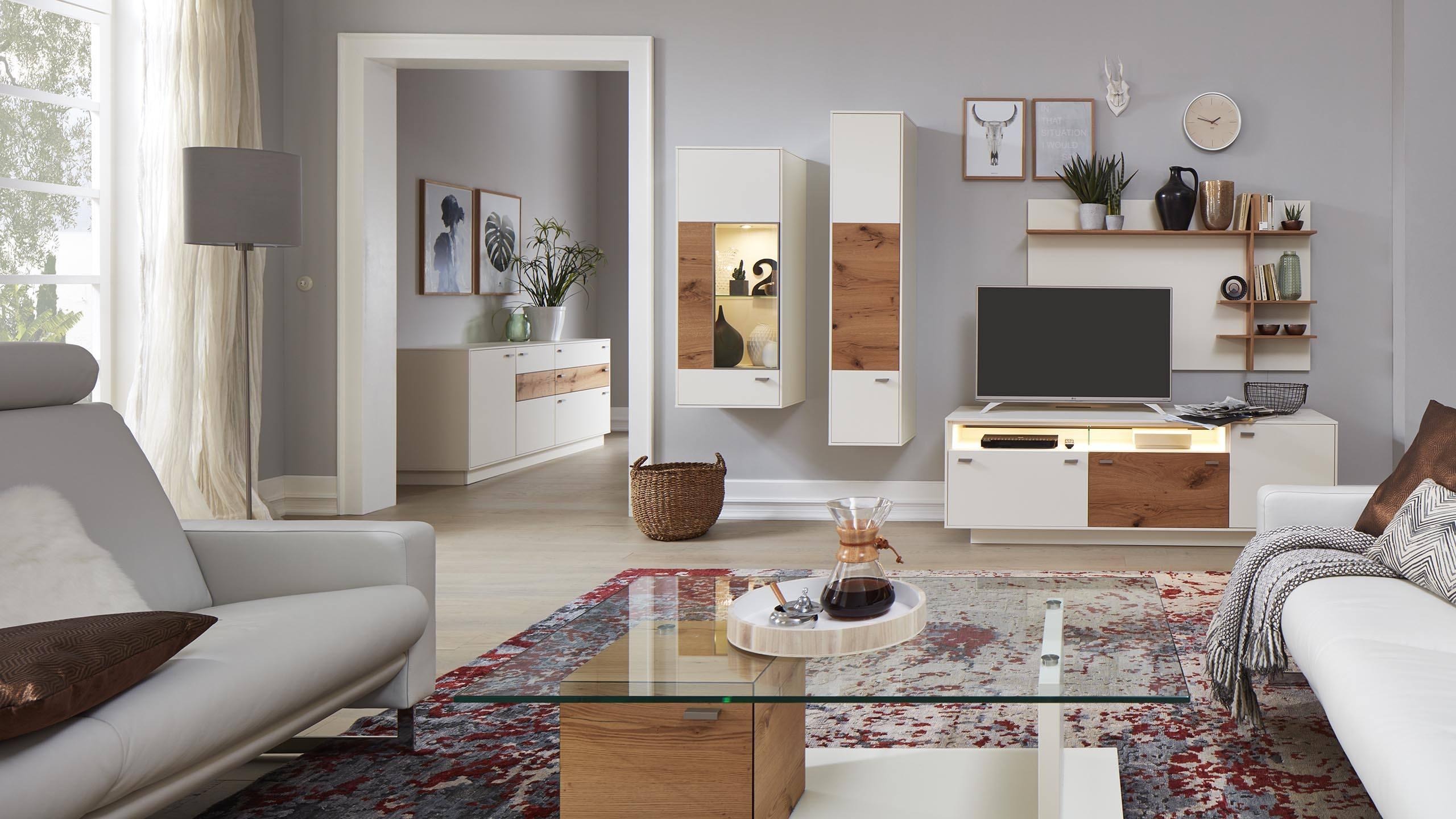 interliving wohnzimmer serie 2101 wohnwand 5 jahre garantie m bel schaumann. Black Bedroom Furniture Sets. Home Design Ideas