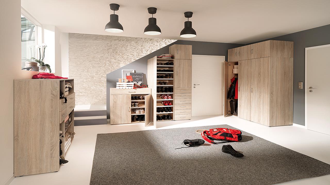 schuhschrank kaufen schuhregal m bel schaumann kassel. Black Bedroom Furniture Sets. Home Design Ideas