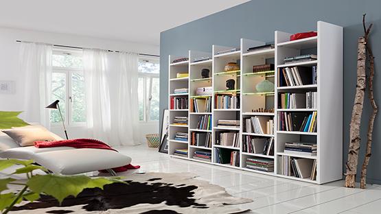 regale kaufen wandregale m bel schaumann kassel. Black Bedroom Furniture Sets. Home Design Ideas
