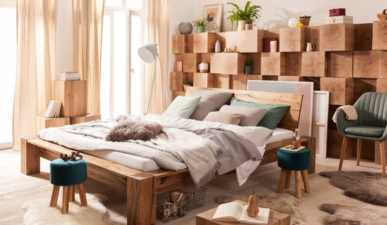 Interliving Schlafzimmer Set aus stilvollem Holz