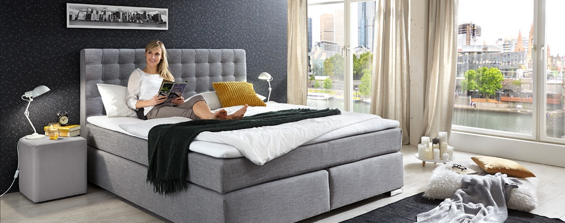 boxspringbett kaufen gro e auswahl m bel schaumann. Black Bedroom Furniture Sets. Home Design Ideas